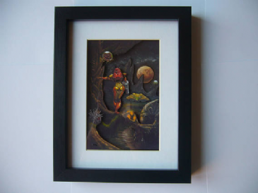 Super Metroid Oil Painting ~ 3D Diorama Shadow Box